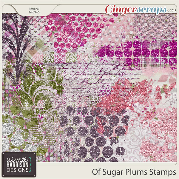 Of Sugar Plums Stamps by Aimee Harrison
