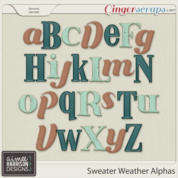 Sweater Weather Alpha Sets by Aimee Harrison