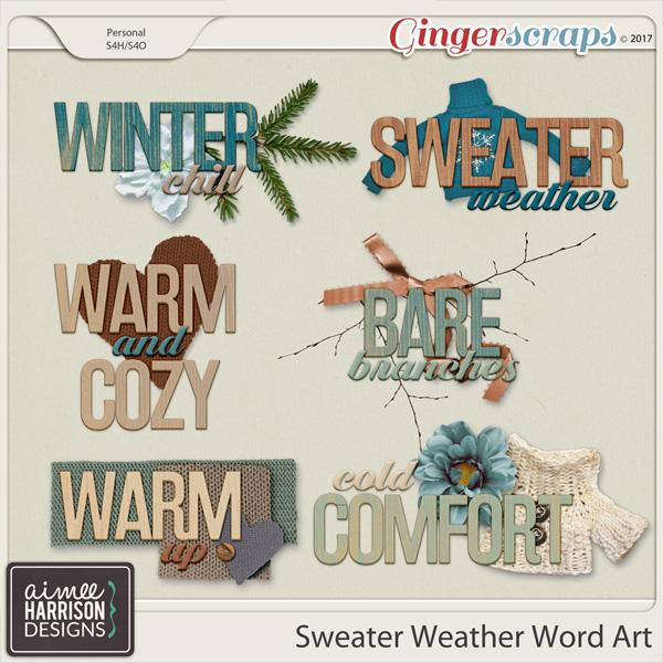 Sweater Weather Word Art by Aimee Harrison