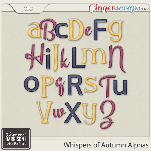 Whispers of Autumn Alpha Sets by Aimee Harrison