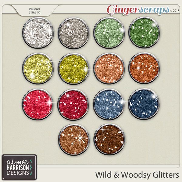 Wild and Woodsy Glitters by Aimee Harrison