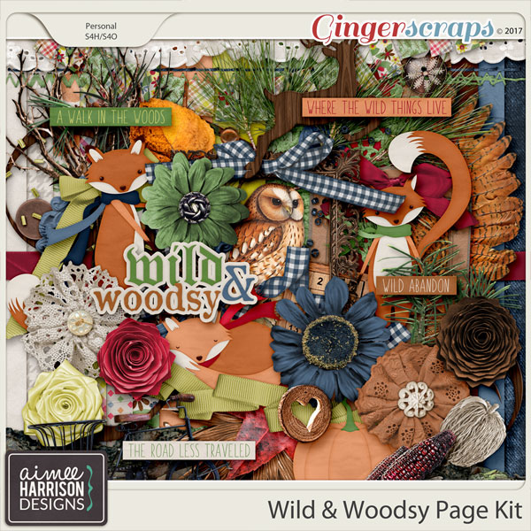 Wild and Woodsy Page Kit by Aimee Harrison