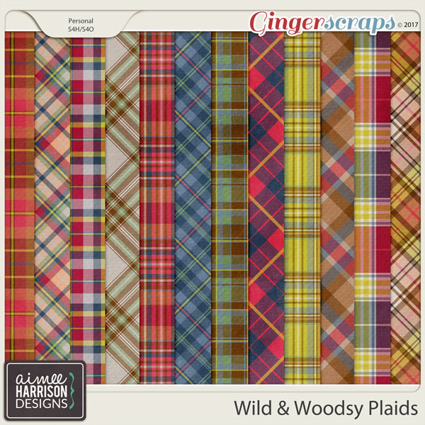 Wild and Woodsy Plaid Papers by Aimee Harrison