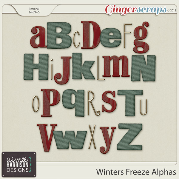 Winters Freeze Alpha Sets by Aimee Harrison