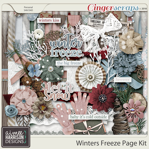 Winters Freeze Page Kit by Aimee Harrison