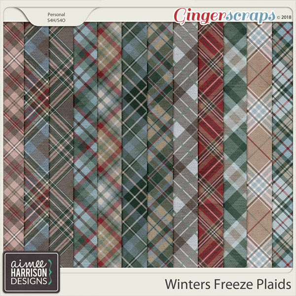 Winters Freeze Plaid Papers by Aimee Harrison