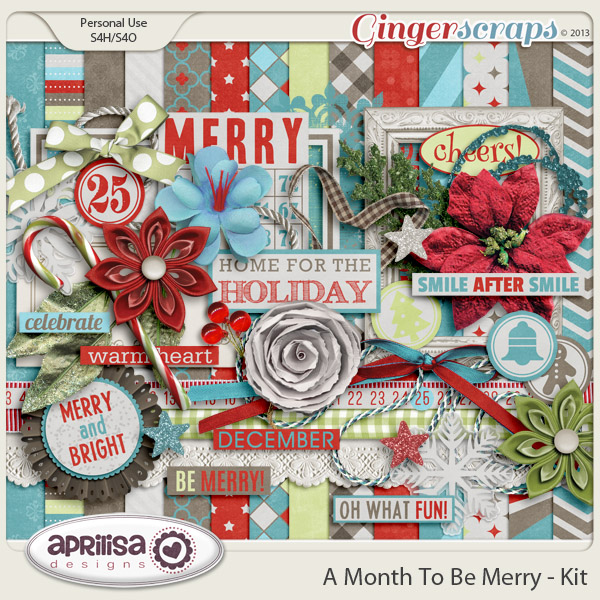 A Month To Be Merry Kit by Aprilisa Designs