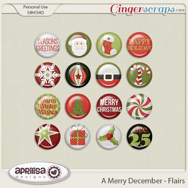 A Merry December - Flairs by Aprilisa Designs