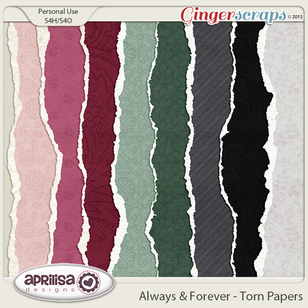 Always And Forever - Torn Papers by Aprilisa Designs