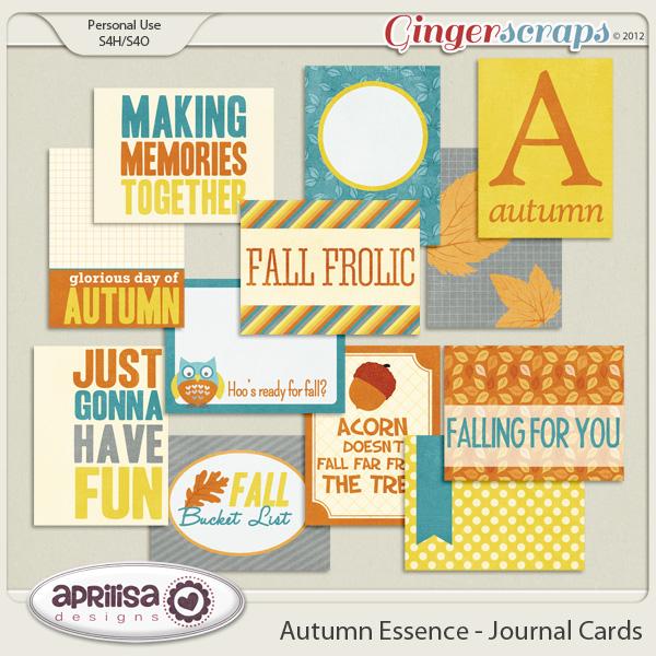 Autumn Essence - Journal Cards