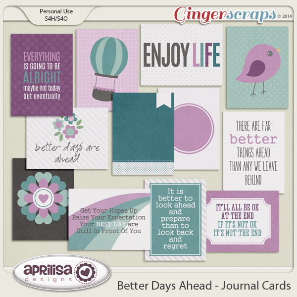 Better Days Ahead - Journal Cards