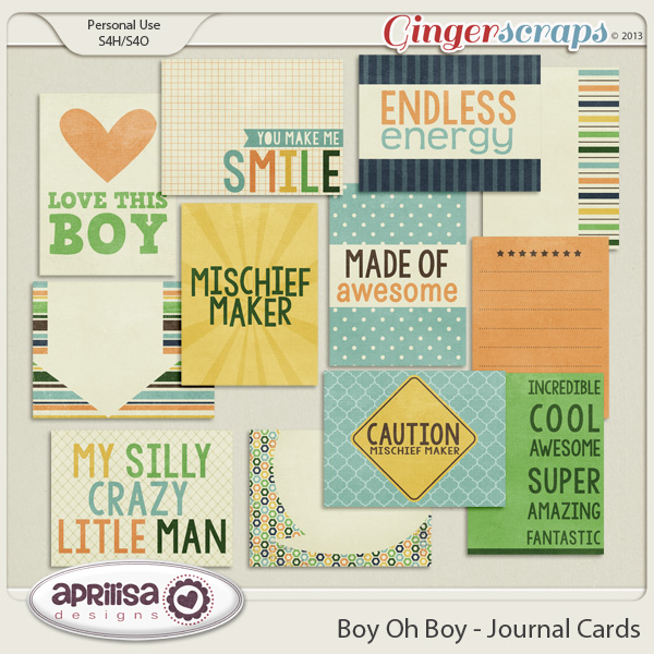 Boy Oh Boy - Journal Cards
