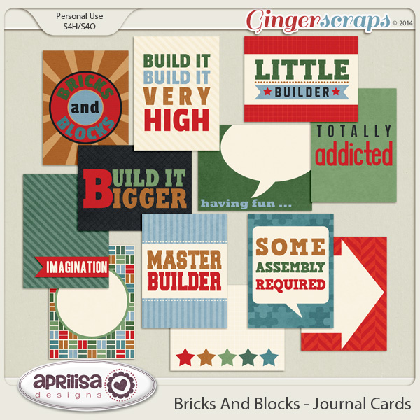 Bricks And Blocks Journal Cards