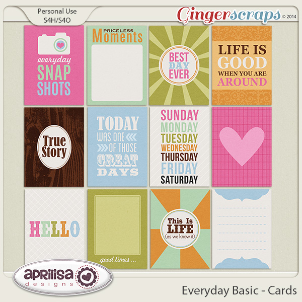 Everyday Basic - Cards by Aprilisa Designs