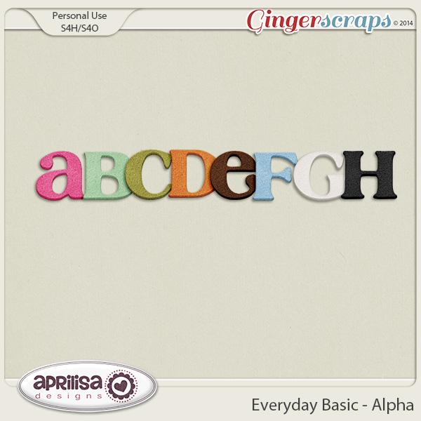 Everyday Basic - Alpha by Aprilisa Designs