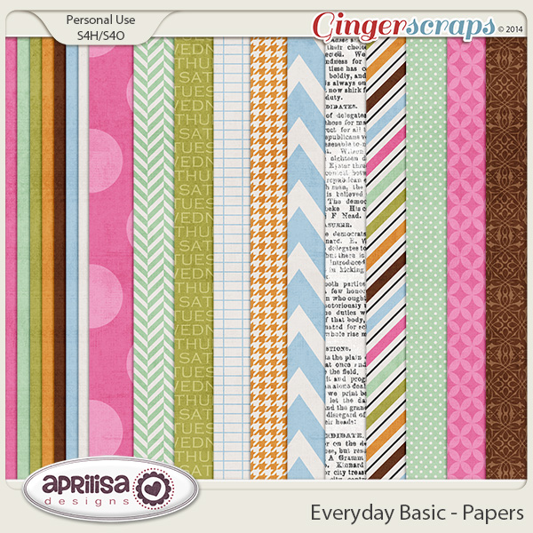 Everyday Basic - Papers by Aprilisa Designs