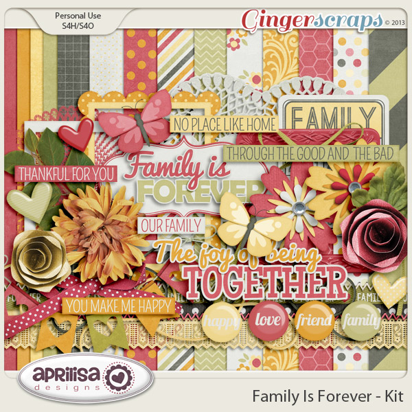 Family Is Forever Kit by Aprilisa Designs