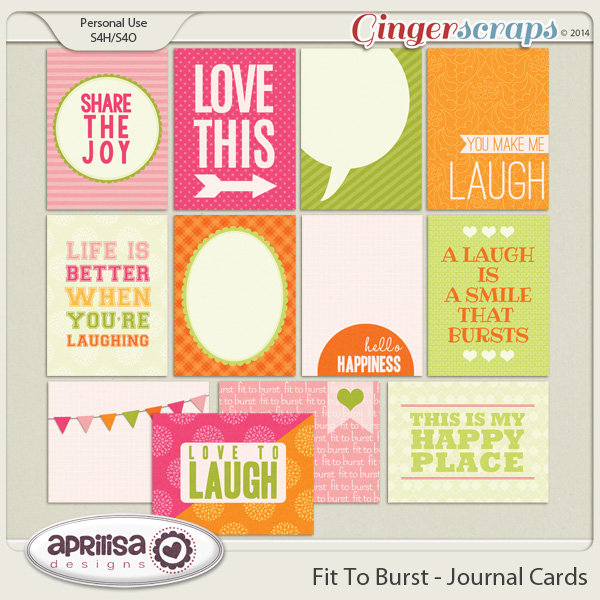 Fit To Burst - Journal Cards