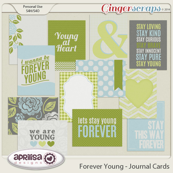 Forever Young Journal Cards by Aprilisa Designs