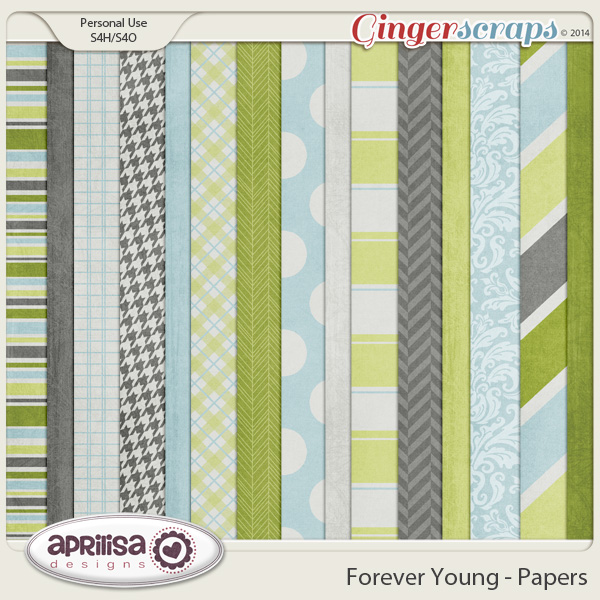 Forever Young Papers by Aprilisa Designs