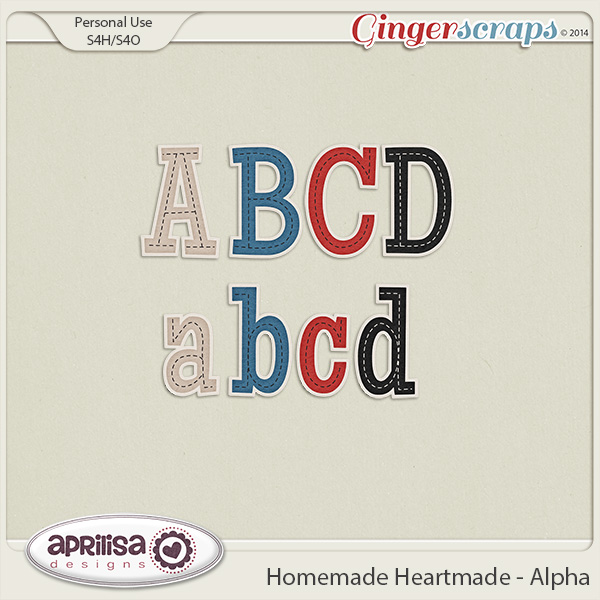 Homemade Heartmade - Alpha by Aprilisa Designs
