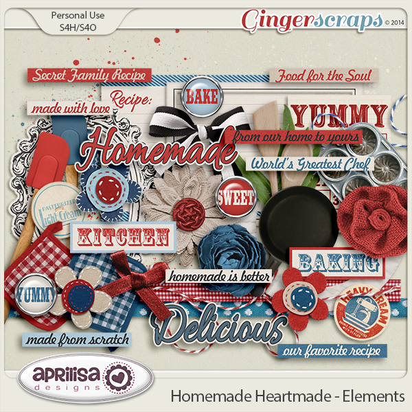 Homemade Heartmade - Elements by Aprilisa Designs