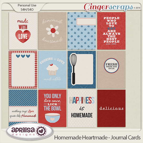 Homemade Heartmade - Journal Cards by Aprilisa Designs
