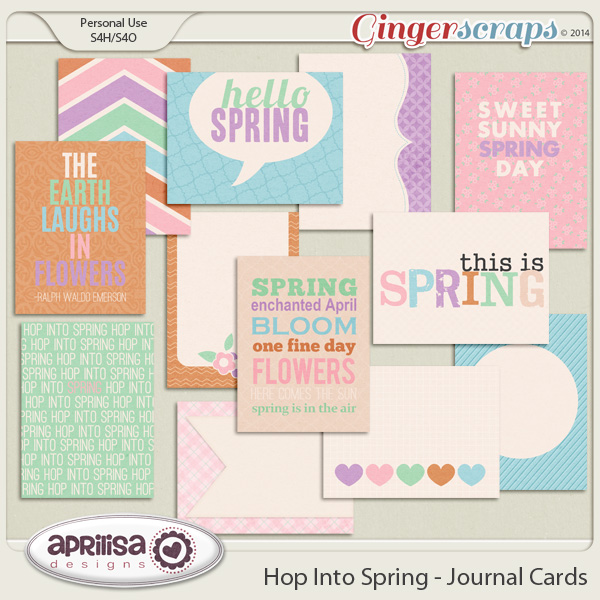 Hop Into Spring - Journal Cards by Aprilisa Designs