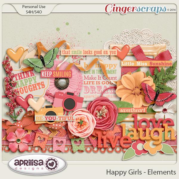Happy Girls - Elements by Aprilisa Designs