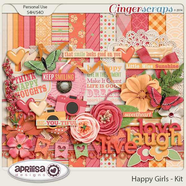 Happy Girls - Kit by Aprilisa Designs