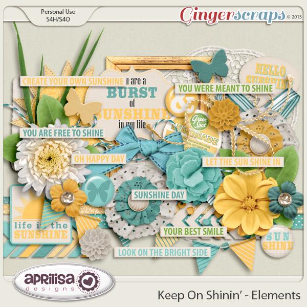 Keep On Shinin' Elements by Aprilisa Designs