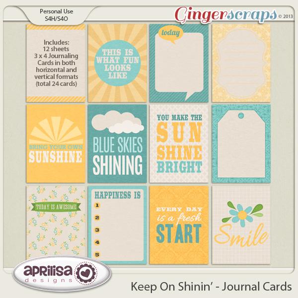 Keep On Shinin' Journal Cards by Aprilisa Designs
