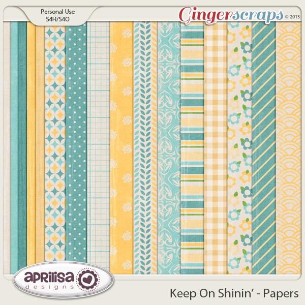 Keep On Shinin' Papers by Aprilisa Designs