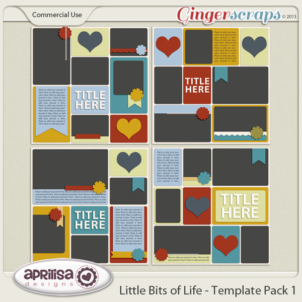 Little Bits Of Life - Template Pack 1