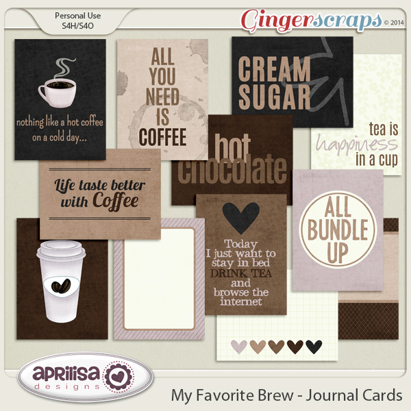 My Favorite Brew Journal Cards by Aprilisa Designs