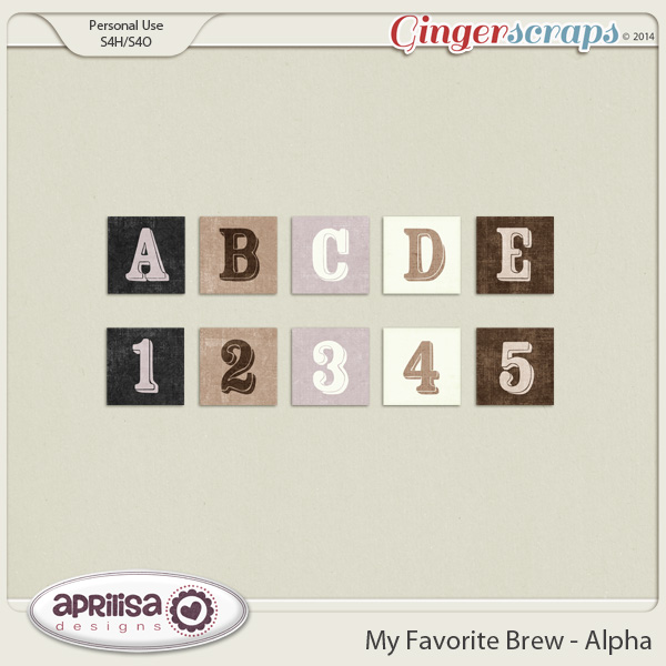 My Favorite Brew Alpha by Aprilisa Designs