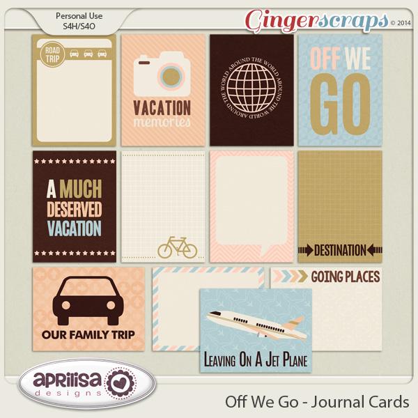Off We Go Journal Cards by Aprilisa Designs