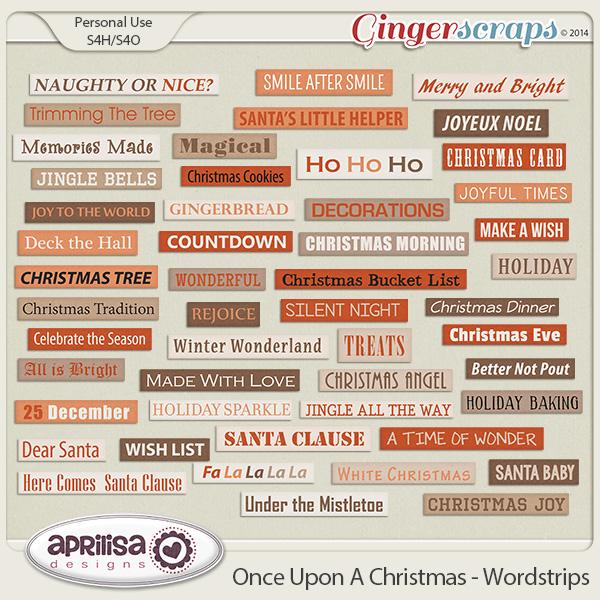Once Upon A Christmas - Wordstrips