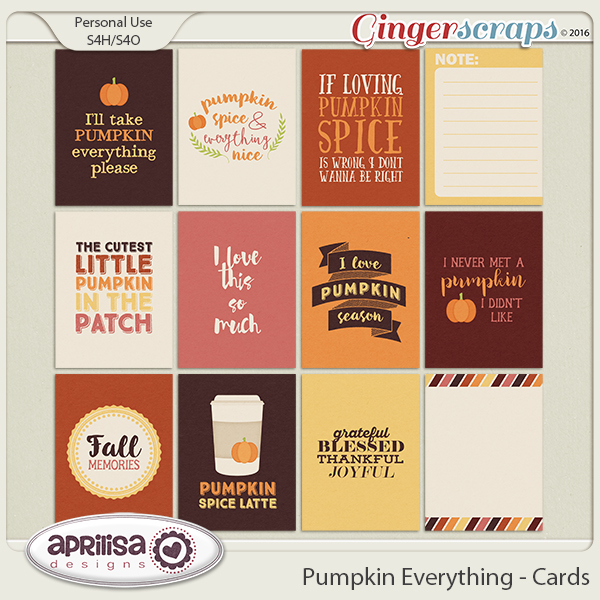 Pumpkin Everything - Cards by Aprilisa Designs