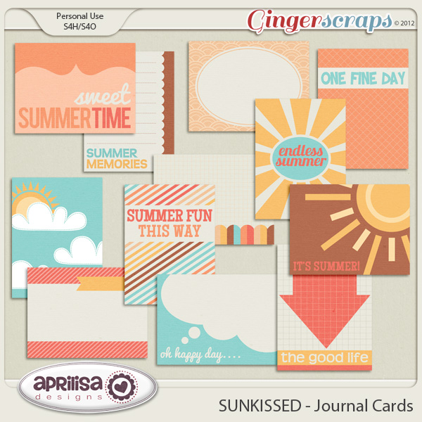 SUNKISSED Journal Cards by Aprilisa Designs