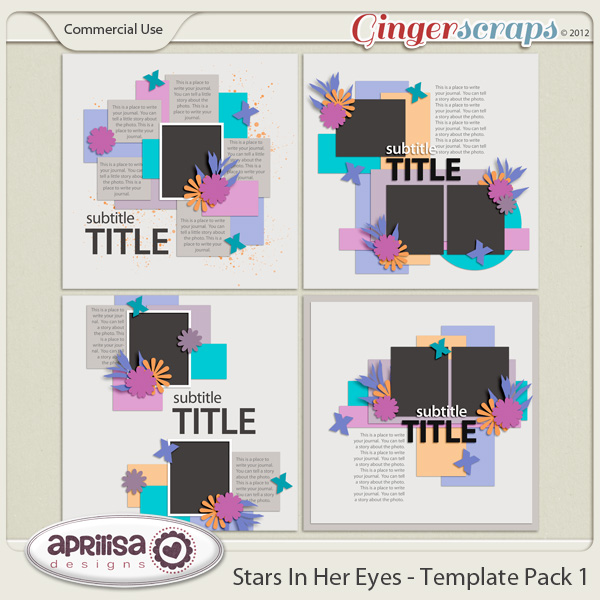 Stars In Her Eyes - Template Pack 1