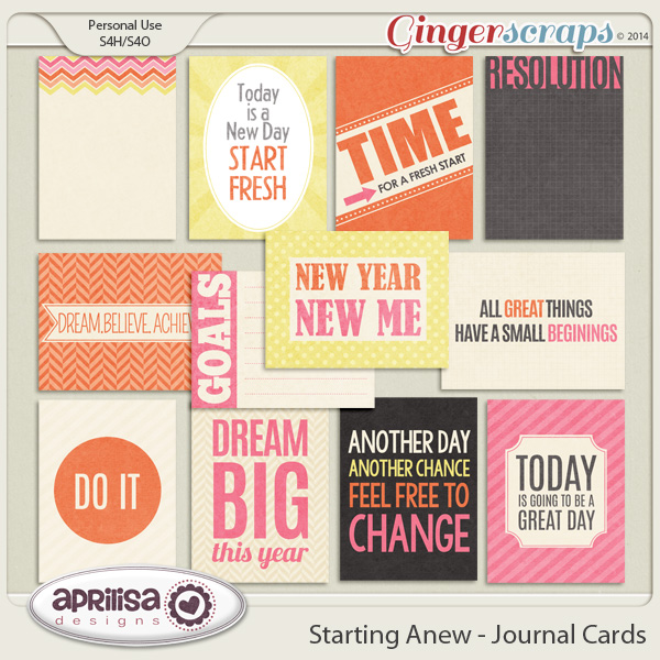 Starting Anew - Journal Cards