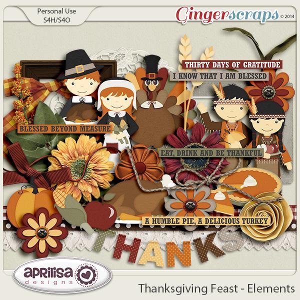 Thanksgiving Feast - Elements by Aprilisa Designs