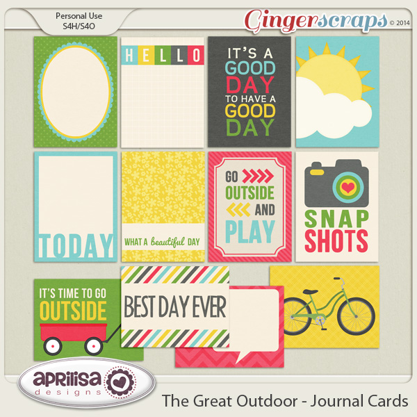 The Great Outdoors - Journal Cards