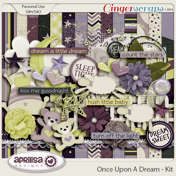 Gingerscraps Kits Once Upon A Dream Kit By Aprilisa Designs