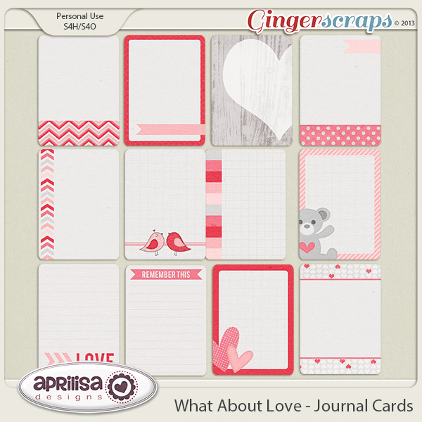 What About Love - Journal Cards