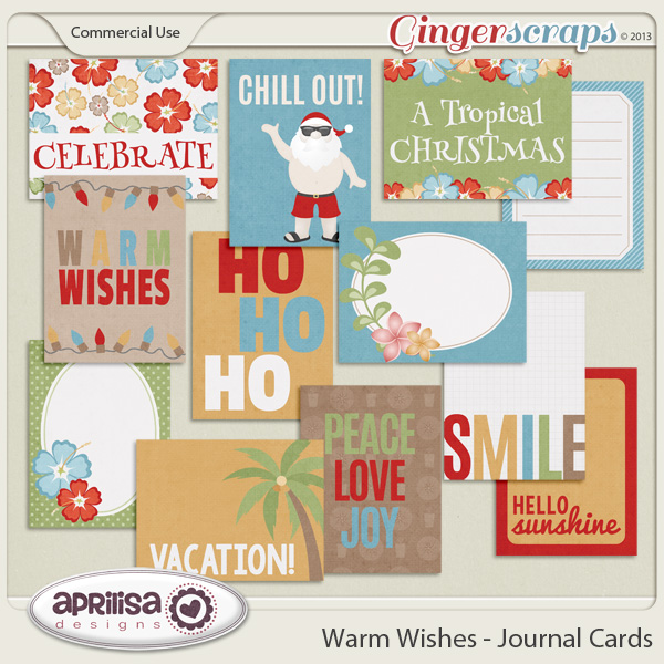 Warm Wishes - Journal Cards