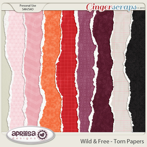 Wild & Free Torn Papers
