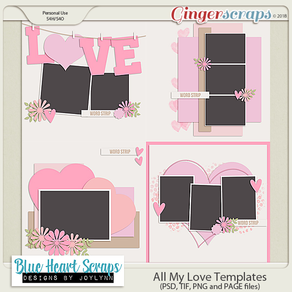 All My Love Template Pack