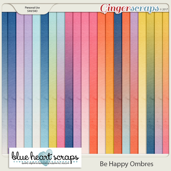 Be Happy Ombre Paper Pack
